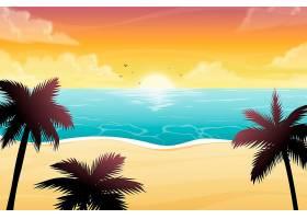 用于缩放的夏季景观背景_9263418