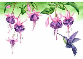 用于缩放的热带花卉背景_9007589