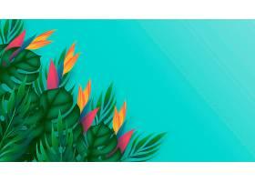 用于缩放的热带花卉背景_9263435