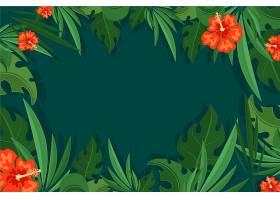 用于缩放的热带树叶壁纸_8851433