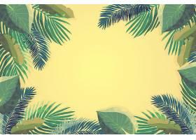 用于缩放的热带树叶壁纸_8928494