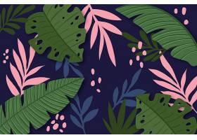 用于缩放的热带树叶背景_8816602