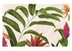 用于缩放的热带树叶背景_8934133