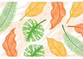 用于缩放的热带树叶背景_8966709