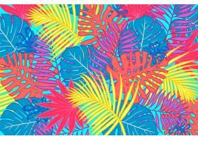 用于缩放的热带树叶背景_8966710