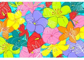 用于缩放的热带树叶背景_8966720