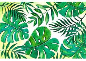 用于缩放的热带树叶背景_9007603