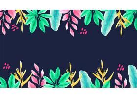 用于缩放的热带树叶背景_9008952