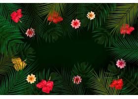 用于缩放的热带花卉背景_8849352