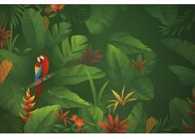 用于缩放的热带花卉背景_8934106