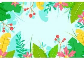 用于缩放的热带花卉背景_8940221