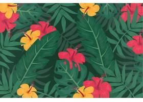 用于缩放的热带花卉背景_8967775