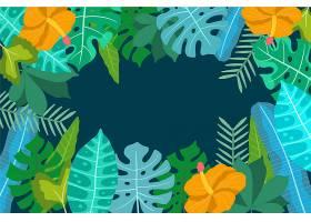 用于缩放的热带花卉背景_8967777