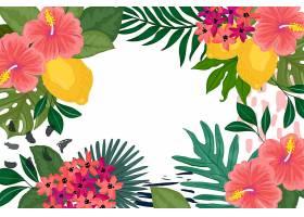 用于缩放的热带花卉背景_8968393