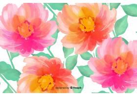 用水彩画制作的花卉背景_5313150