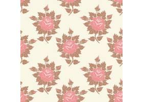 矢量花卉无缝图案背景背景纹理优雅古典_1283471