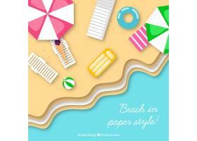 纸张样式中从顶部背景开始的海滩_2485557