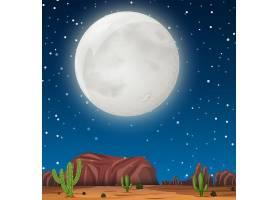 沙漠中的夜景_4228189