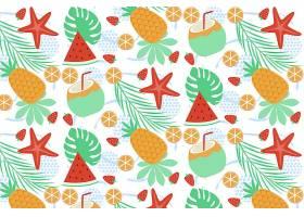 水果和甜食的夏季模式_9553935