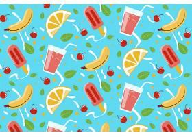 水果和甜食的热带夏季模式_9553934