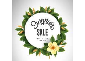 夏季促销用可爱的花叶围成一圈提供或销_2438904
