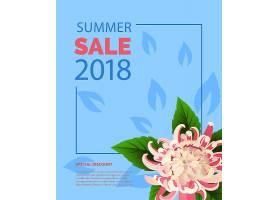夏季大减价粉红色花框内的字样夏季优惠_2766957