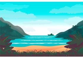夏季景观缩放背景_8945167