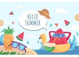 夏季背景绘画主题_8346410