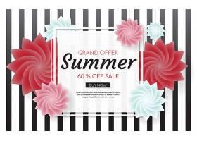 夏季销售模板横幅矢量背景_1253401