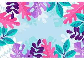五颜六色的带叶子的夏季墙纸_8218488