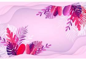 五颜六色的带叶子的夏季墙纸_8509411