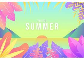 五颜六色的插图夏日背景_8417283