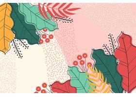 五颜六色的热带树叶缩放背景_9007085