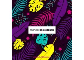 五颜六色的热带背景平面设计_2641258
