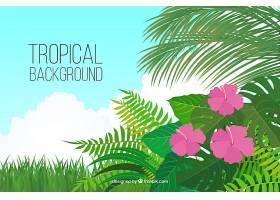 五颜六色的热带背景平面设计_2686926