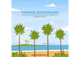 五颜六色的热带背景平面设计_2686928