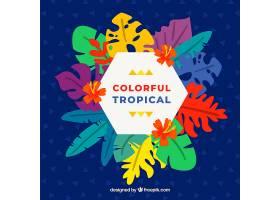 五颜六色的热带背景平面设计_2686936