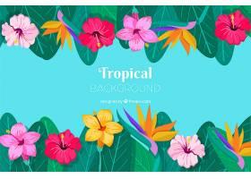 五颜六色的热带背景平面设计_2713721
