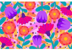 五颜六色的花朵异国情调_6584544