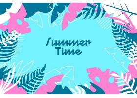 五颜六色的设计夏日背景_8355275