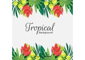 五颜六色的热带背景平面设计_2752334
