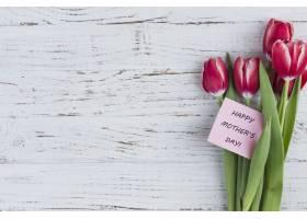 为母亲节准备漂亮的鲜花和卡片_1083303