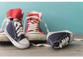 彩色鞋的装饰背景_1135707