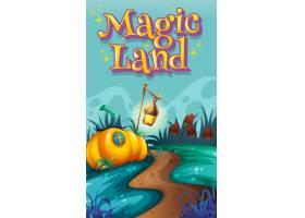 以文字魔境和花园为背景的海报设计_8700883