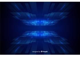 以未来主义地平线为主题的背景设计_5777456