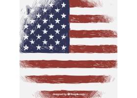 以美国国旗为背景的古董酒_1101758