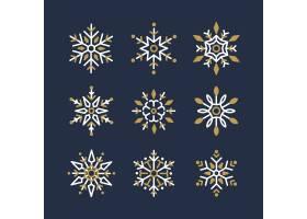 一套雪花圣诞设计矢量_3594488