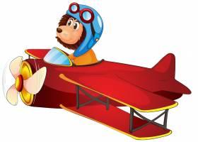 一架骑着狮子的经典飞机_3787087