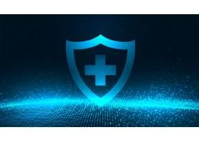 一种蓝色发光粒子的医疗防护罩_7766364