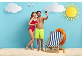 横向拍摄令人惊讶的男女夫妇在度假胜地享受_11632995